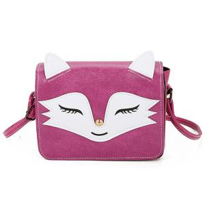 PU Leather Fox Pattern Crossbody Bag