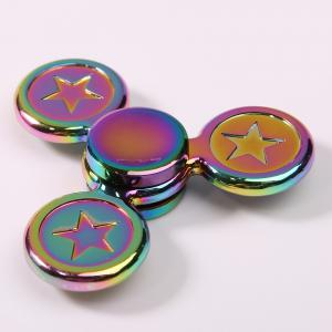 Fidget Toy Colorful Metal Star Hand Spinner - COLORFUL 7.5*7.5*1.5CM
