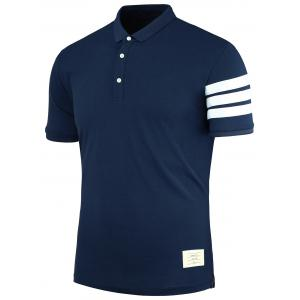 Stripe Patch Polo Shirt