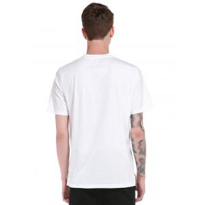 Short Sleeve 3D Scratch Print T-Shirt - WHITE L