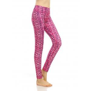 Pattern High Rise Compression Leggings