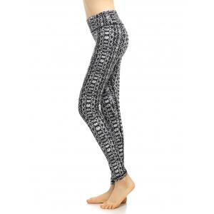 High Waisted Pattern Fitness Leggings