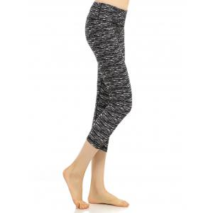Elastic High Waisted Cropped Workout Leggings
