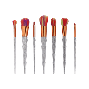 7Pcs Unicorn Conical Multicolor Brush Hair Makeup Brushes Set -