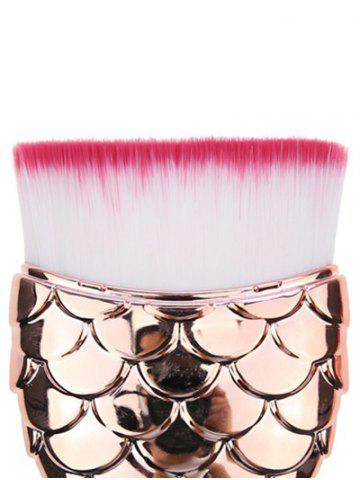 Chic Mermaid Shape Flat Hair Facial Makeup Brush - ROSE GOLD  Mobile