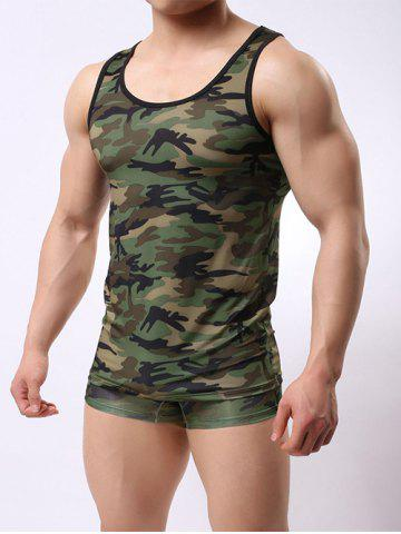 Outfit Muscle Camo Tank Top and Boxer Briefs - XL ACU CAMOUFLAGE Mobile