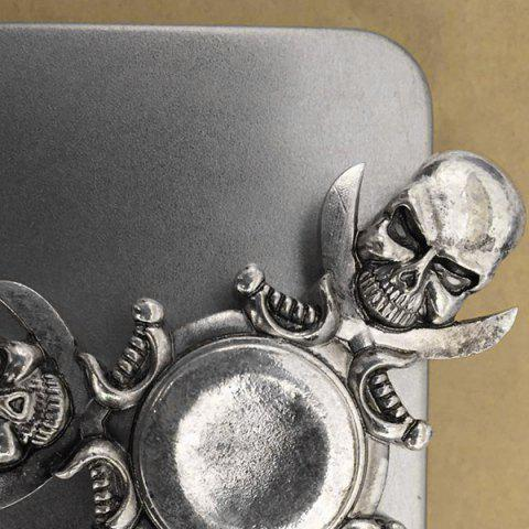 Discount Finger Gyro Stress Relief Toy Skull Fidget Spinner - SILVER AND GREY  Mobile