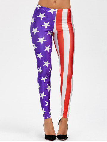 Discount American Flag Mid Waist Leggings