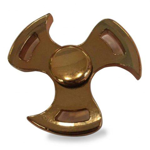 Stress Relief Toy Metal Fidget Spinner Fly Wheel Finger Gyro - Golden - 6.6*6.6*1.5cm