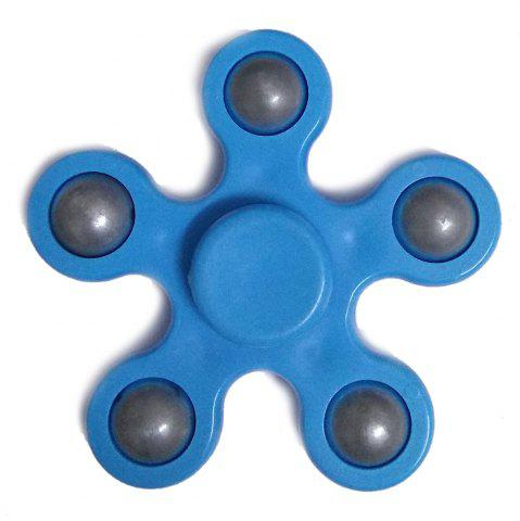 Shop Flower Shape Stress Relief Toy Fidget Spinner Finger Gyro BLUE