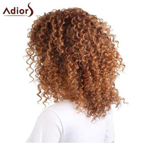 Affordable Adiors Shaggy Long Side Part Afro Curly Synthetic Wig - LIGHT BROWN  Mobile