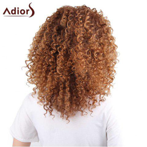 New Adiors Shaggy Long Side Part Afro Curly Synthetic Wig - LIGHT BROWN  Mobile