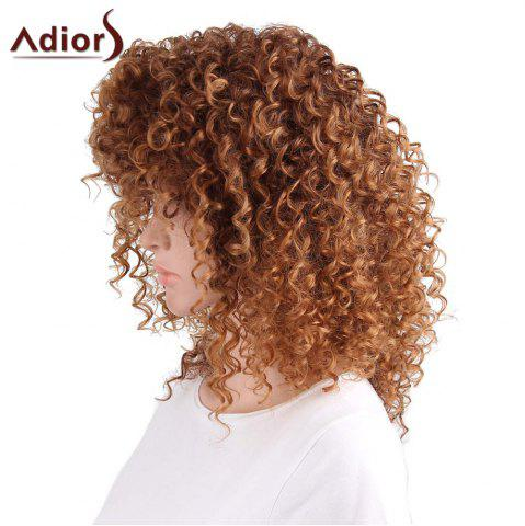 Latest Adiors Shaggy Long Side Part Afro Curly Synthetic Wig - LIGHT BROWN  Mobile