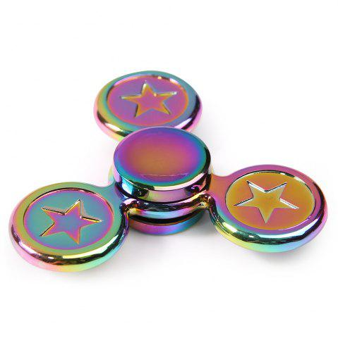 Sale Fidget Toy Colorful Metal Star Hand Spinner COLORFUL 7.5*7.5*1.5CM