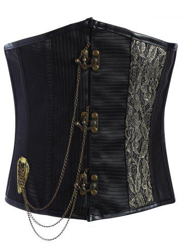 Affordable Metal Chain Lace Up Underbust Corset