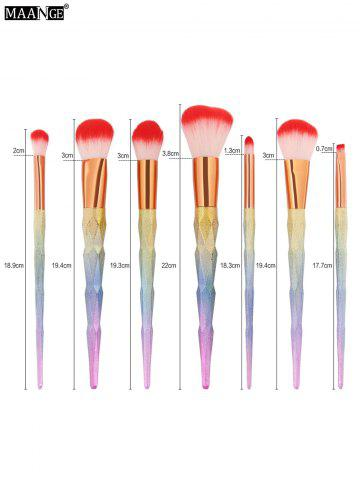 Trendy Unicorn Conical Rainbow Makeup Brushes Kit - COLORFUL  Mobile