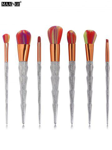 7Pcs Unicorn Conical Multicolor Brush Hair Makeup Brushes Set - Colorful - Eu Plug