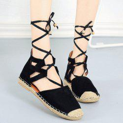 Tie Up Espadrilles Flat Shoes