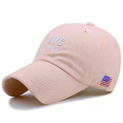 American Flag Letters Embroidered Baseball Hat - PINK