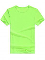 Crew Neck Basic Short Sleeve T-Shirt