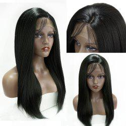 Long Side Part Glossy Thick Straight Lace Front Synthetic Wig