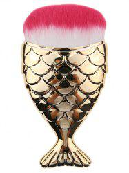 Mermaid Design Cambered Hair Facial Makeup Brush - GOLDEN
