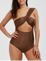 One Shoulder One Piece Cut Out Swimwear