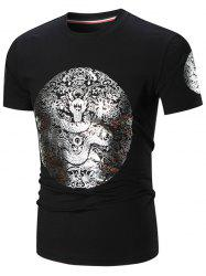 Gilding Dragon Printed Tee