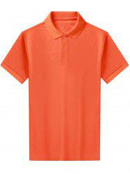 Turndown Collar Short Sleeve Basic Polo Shirt