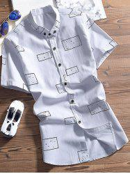 Button Down Spot Printed Shirt