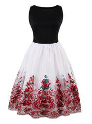 Embroidered Vintage Flare Dress