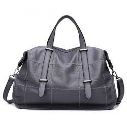 Stitching Faux Leather Handbag