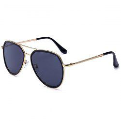 Double Metallic Crossbar UV Protection Polit Sunglasses