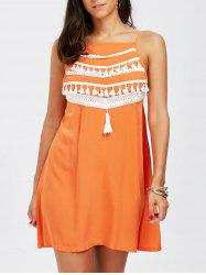 Tassel Spaghetti Strap Sleeveless Dress