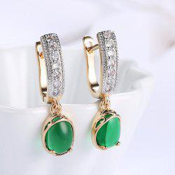 Rhinestone Horseshoe Drop Hoop Earrings