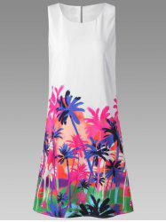Palm Sleeveless Tropical Dress