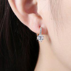 Rhinestoned Gold Plated Earrings