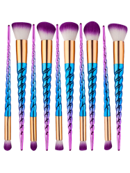 10Pcs Unicorn Thread Ombre Makeup Brushes Kit