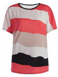 Color Block Striped Casual Top