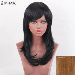 Siv Hair Side Bang Tail Adduction Long Straight Human Hair Wig