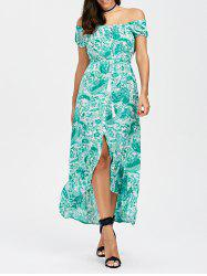 Asymmetric Paisley Print Flounce Dress
