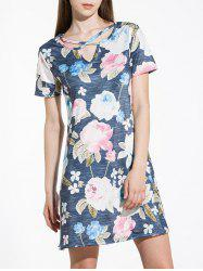 Floral Criss Cross Mini Shift Dress