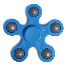 Flower Shape Stress Relief Toy Fidget Spinner Finger Gyro - BLUE