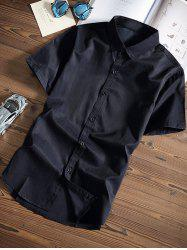 Classic Short Sleeves Button Up Shirt
