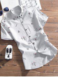 Button Down Graphic Pattern Shirt