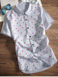Triangle Printed Turndown Collar Shirt