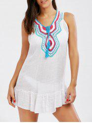 Sleeveless Flounce Tunic Cover Up