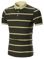 Striped Short Sleeves Polo Shirt
