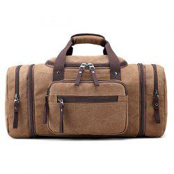 Canvas Multi Zips Weekender Bag