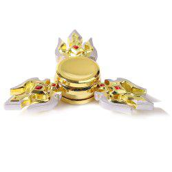 Stress Relief Toy Fox Metal Hand Tri-Spinner